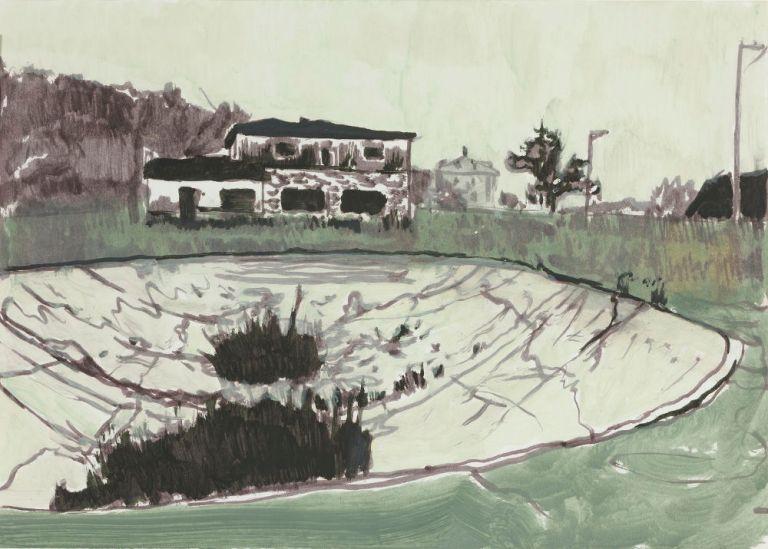 Peter Doig - Untitled Kricket at Victoria Miro (Via GalleriesNow)