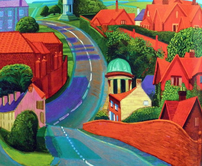 David Hockney - The road to York through Sledmere