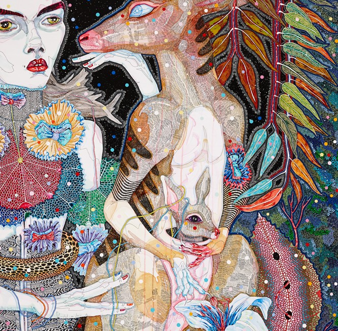 Del Kathryn Barton - what i am also, 2013 - CLOSE UP