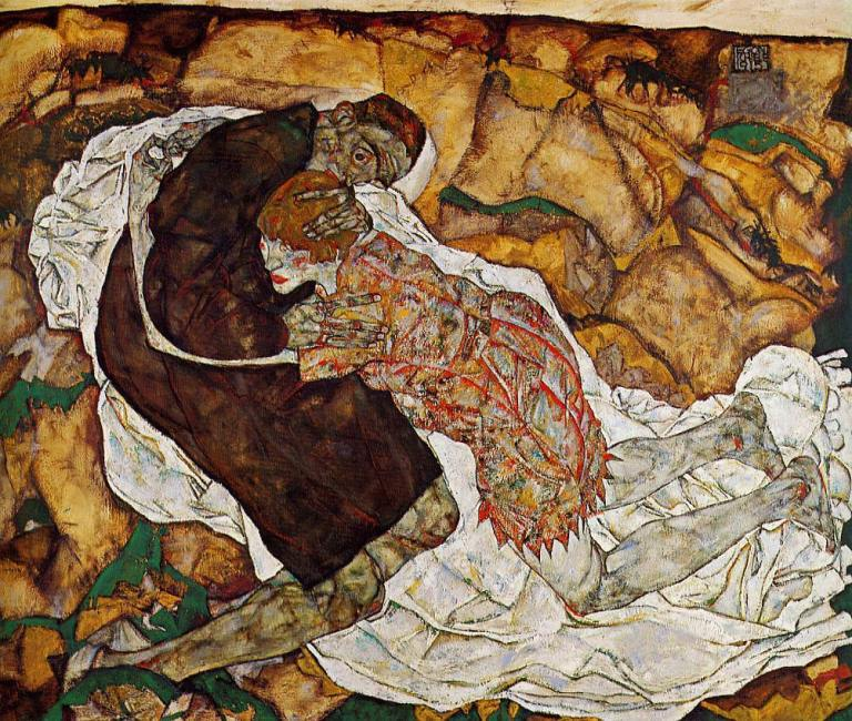 Egon Schiele, Death and the Maiden. 1915