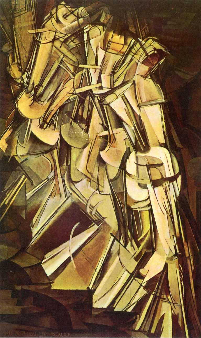 Nude Descending a Staircase N0 2 by Marcel Duchamps