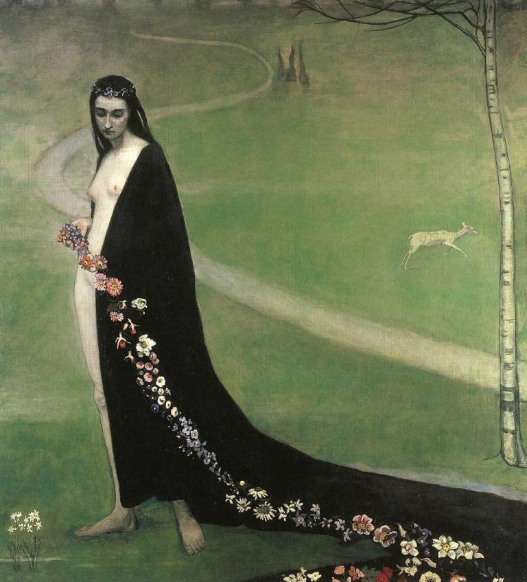 Romaine Brooks, Femme avec des fleurs