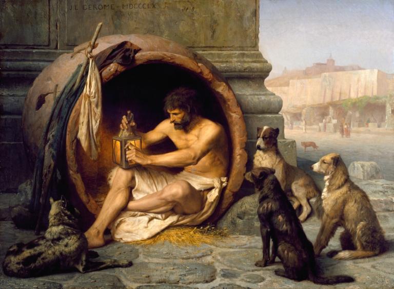 Diogenes by Jean-Léon Gérôme
