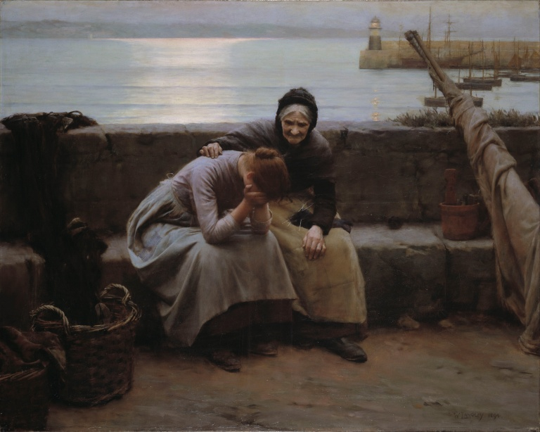 Never Morning Wore to Evening but Some Heart Did Break by Walter Langley