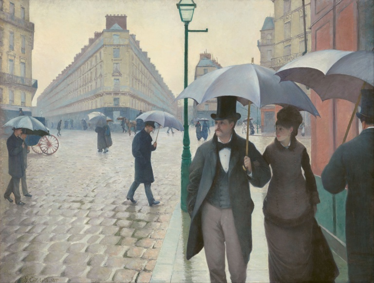 Paris Street, a rainy day by Gustave Caillebotte