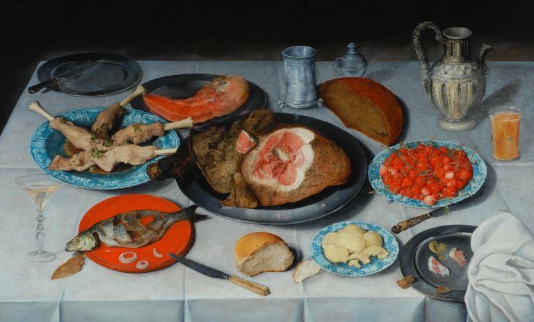 Breakfast Piece by Jacob van Hulsdonck, 1614 Via Artfund