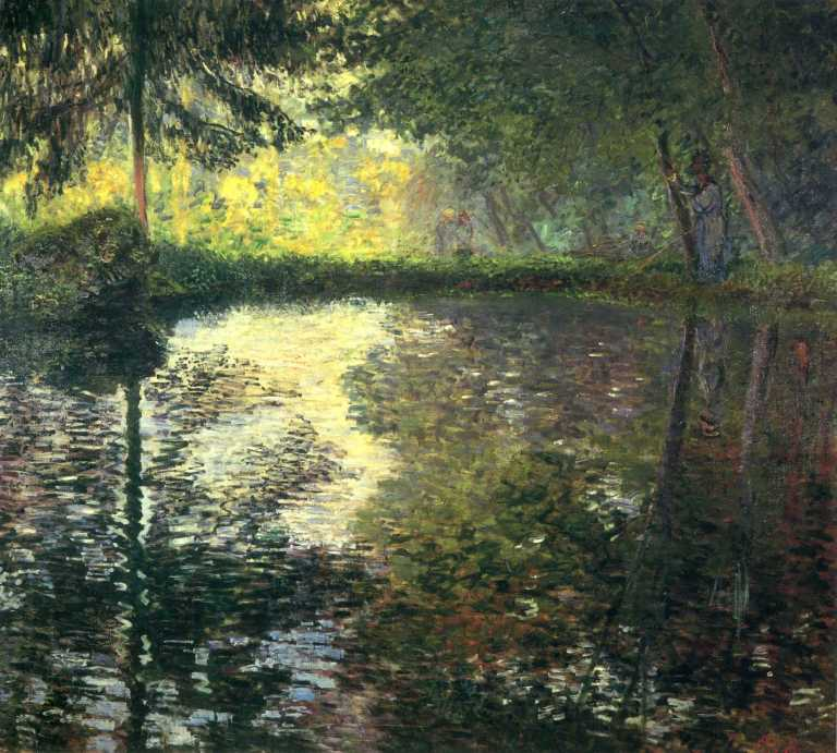 The Pond at Montgeron by Monet